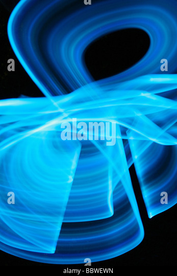 abstract blue light - Stock Image