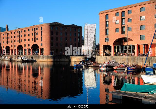 Albert Dock, Liverpool, Merseyside, England, United Kingdom, Europe - Stock Image