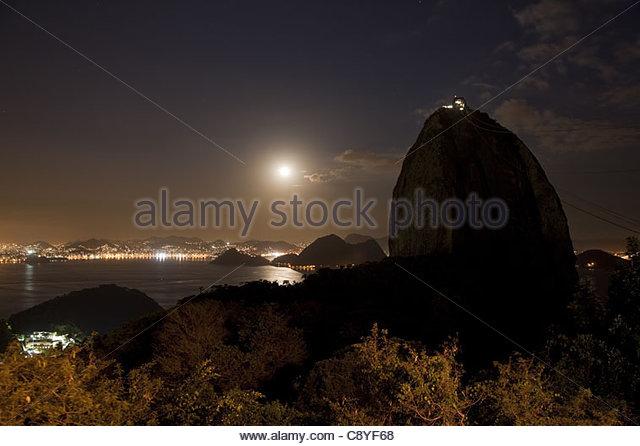 Sugarloaf Mountain Rio De Janeiro Brazil - Stock Image