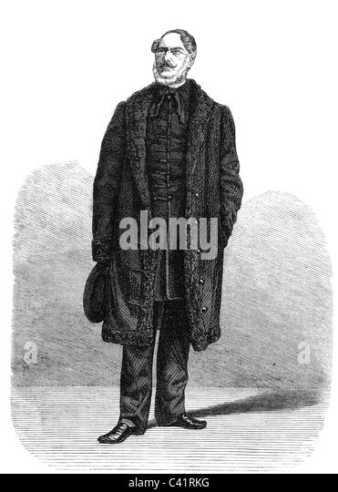 Vay de Vaya, Nicholas Baron, Hungarian statesman, court chancellor, full length, wood engraving after photo by L. - Stock Image