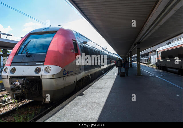 Paris, France, Trains, at platform, in Gare de Bercy - Stock Image