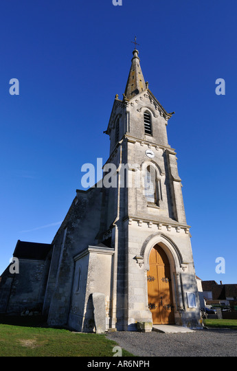 Lureuil church, Indre, France. - Stock Image