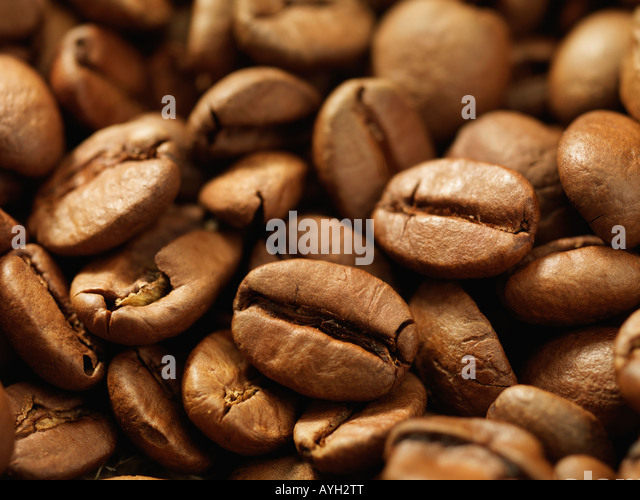 Close up of coffee beans - Stock-Bilder