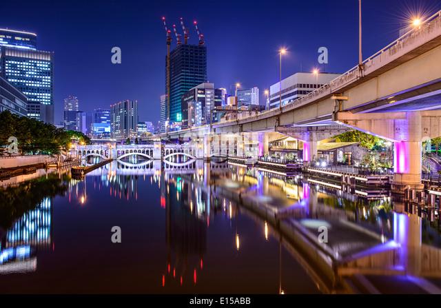 Osaka, Japan at the Nakanoshima district. - Stock Image