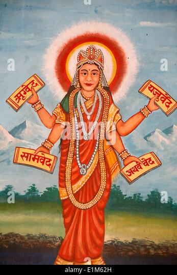Bhagavad-Gita hindu scriptures - Stock Image