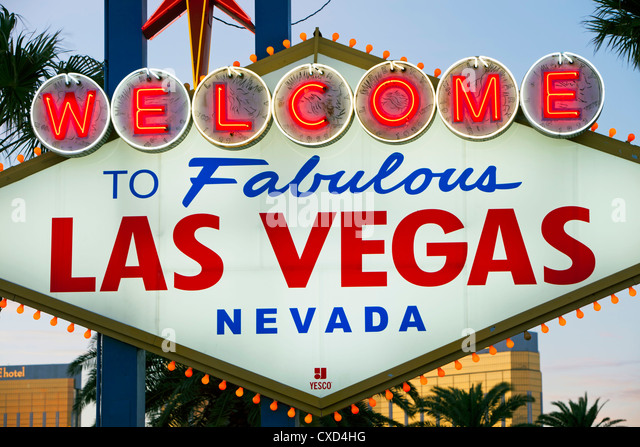 Welcome to Las Vegas sign, Las Vegas, Nevada, United States of America, North America - Stock Image