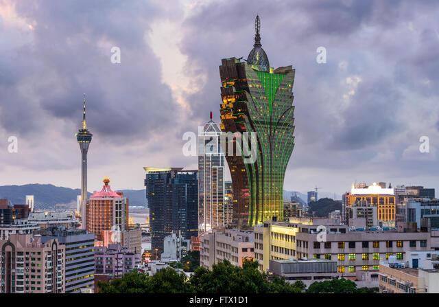 Macau, China city skyline. - Stock Image