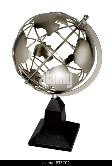 Metal globe - Stock Image