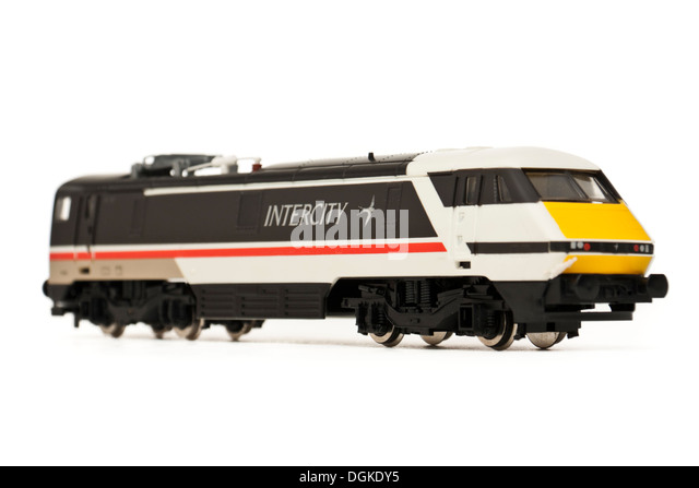 Vintage Hornby Railways 'Intercity 225' model railway locomotive (R824) - Stock-Bilder