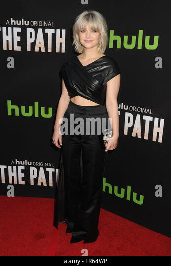 Hollywood, CA, USA. 21st Mar, 2016. 21 March 2016 - Hollywood, California - Sarah Jones. ''The Path'' - Stock Image