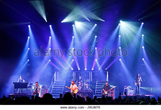 Scotty Wilbanks, Mark David Lee, Mac Powell, David Ronald Carr, Samuel Tai Anderson and Jason Heard. Christian rock - Stock Image
