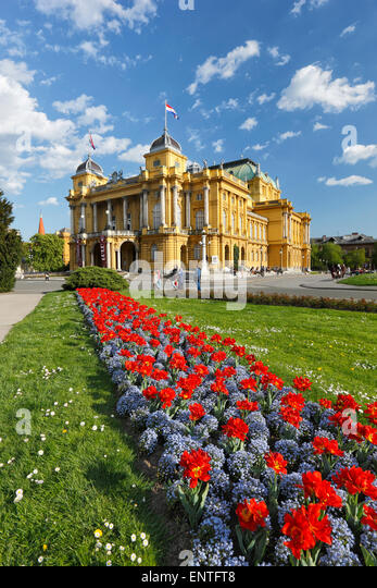 Zagreb national theater, Croatia - Stock-Bilder