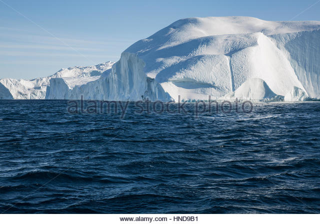 Iceberg in Greenland Sailing around Icefjord - Stock Image