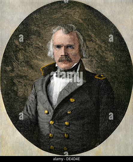 Confederate General Albert Sidney Johnston, at age 57. - Stock Image