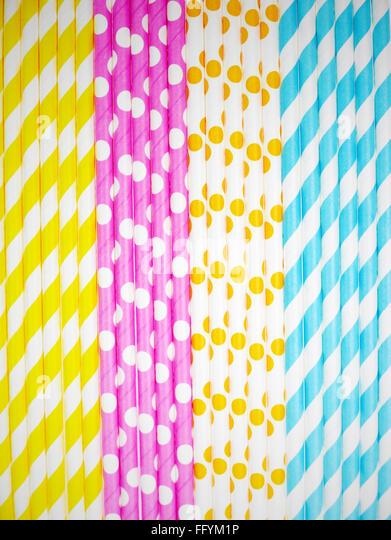 Full Frame Shot Of Colorful Straws - Stock-Bilder
