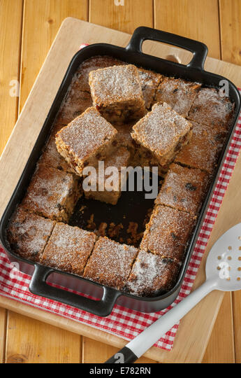 Traditional British bread pudding - Stock Image