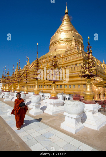 Shwezigon Paya, Nyaung U, Bagan, Burma - Stock-Bilder