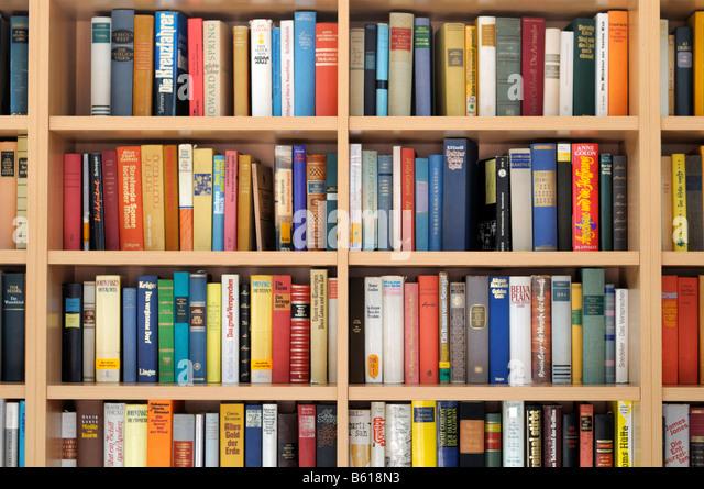 Bookshelf With Books ~ Bookshelf stock photos images alamy