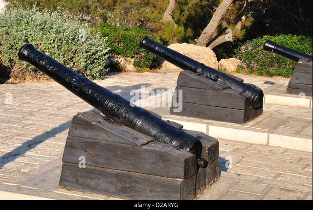 Napoleon`s gunnery in old Jaffa. Israel. - Stock Image