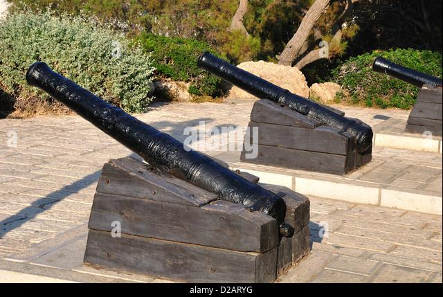 Napoleon`s gunnery in old Jaffa. Israel. - Stock Image