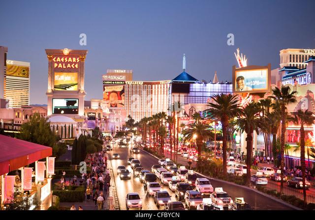 USA, United States, America, Nevada, Las Vegas, City, Strip, Avenue, advertisement, architecture, casinos, center, - Stock Image
