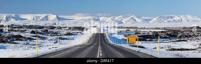 Road scene, Iceland, Polar Region - Stock Image