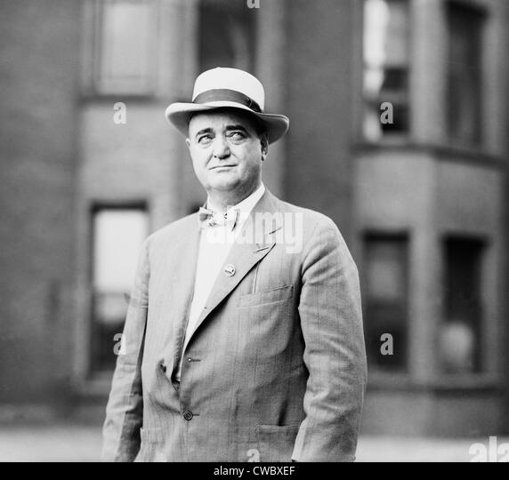 Bat Masterson (1853-1921), in his second career as a sports editor and columnist for the New York Morning Telegraph. - Stock Image