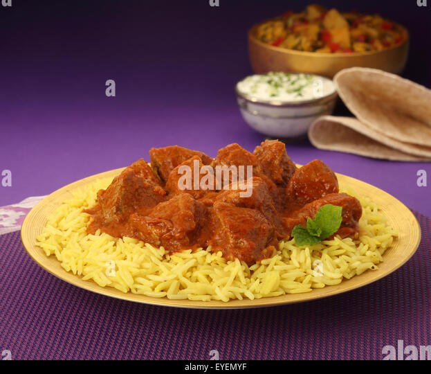 INDIAN BEEF CURRY MEAL - Stock Image