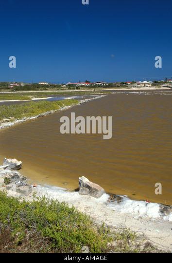 Grand Turk Island Turks and Caicos Islands salt pan - Stock Image