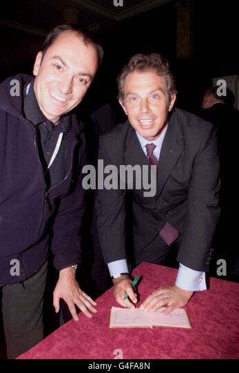 PM Blair autograph book - Stock Image