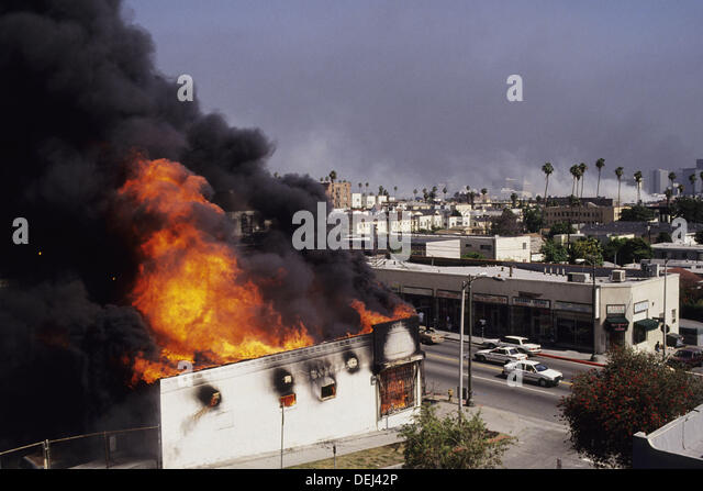 Scene from Los Angeles Riots, 1992. California. USA - Stock Image