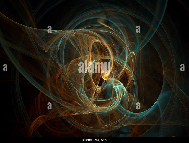 Fractal flames background high quality digital render - Stock Image