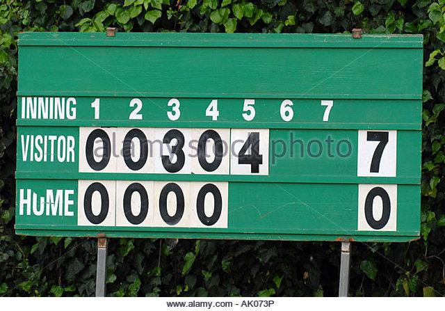 baseball score board - Stock Image