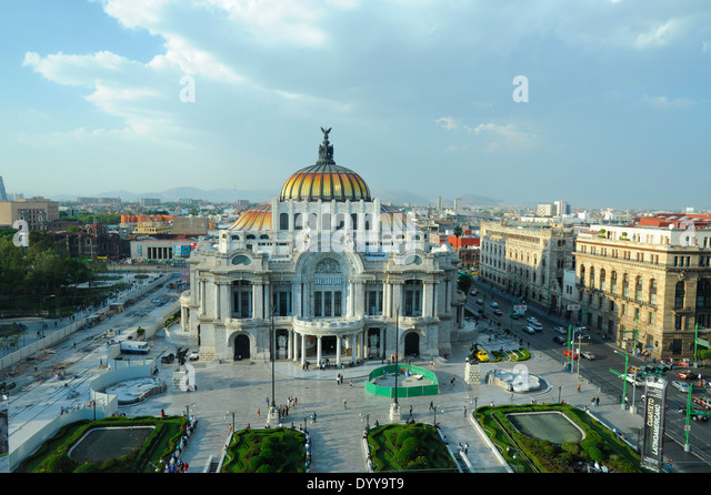 Bellas Artes Building, Mexico City, Mexico - Stock Image