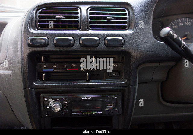 Vehicle Control Panel : Car interior control panel knobs stock photos