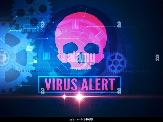 computer security virus - Stock Image