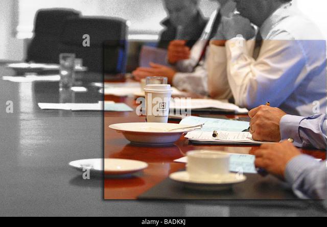 Business table - Stock-Bilder