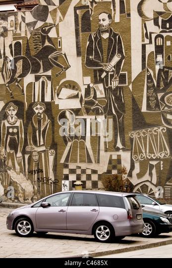 Photograph of an artistic tablet in Plovdiv Bulgaria - Stock-Bilder