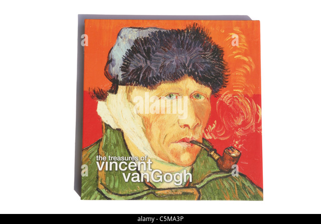 A book about the artist Vincent Van Gogh - Stock Image