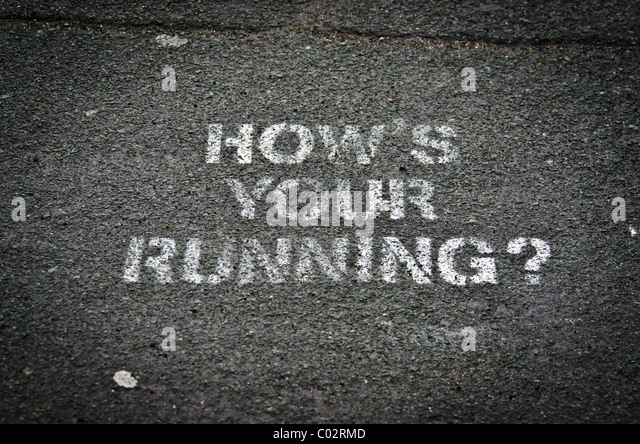 How's your Running - Stock Image