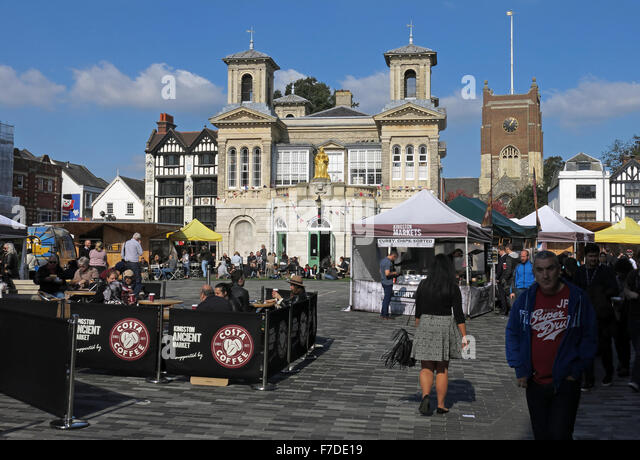 Kingston-on-Thames marketplace,West London, England,UK - Stock Image