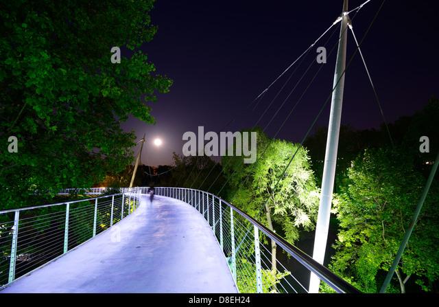 Liberty bridge in Greenville, South Carolina, USA - Stock-Bilder