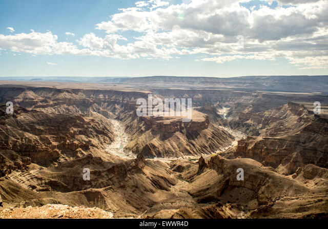 Hobas, Namibia, Africa - Fish River Canyon,   the largest canyon in Africa. Part of the ǀAi-ǀAis/Richtersveld Transfrontier - Stock Image