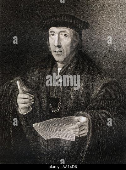 JOHN MORE SIR C 1541 1530 Father of Sir Thomas More - Stock Image