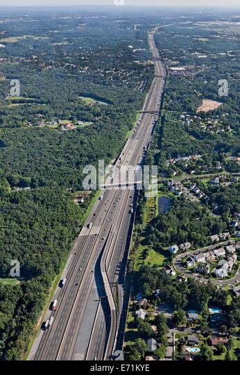 The New Jersey Turnpike, Monroe Township, NJ - Stock-Bilder