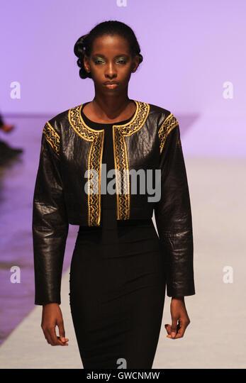 LONDON, UK - September 10: Detour Fashion is showcased at the Africa Fashion Week London  © David Mbiyu/Alamy - Stock Image