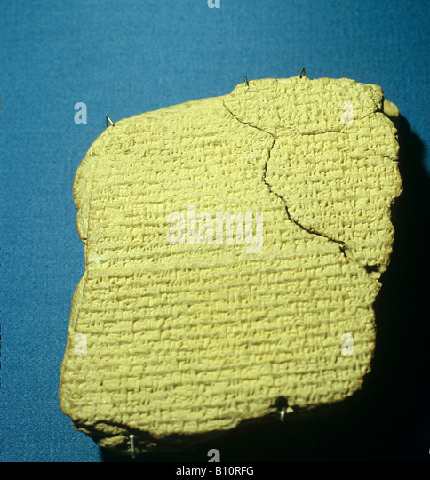 First sighting of Halley s comet in 163 BC Babylonian astronomical diary Copyright: AAA Collection Ltd - Stock Image