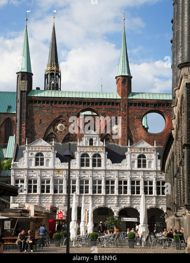 lubeck town hall rathaus germany stock photos lubeck town hall rathaus germany stock images. Black Bedroom Furniture Sets. Home Design Ideas