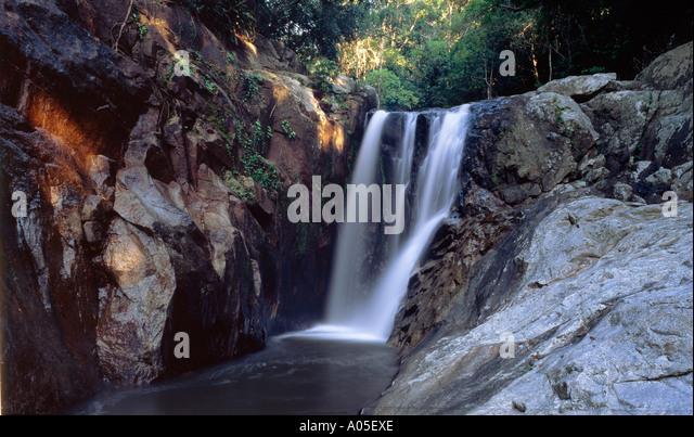 Thailand Ko Samiu Hin Lad waterfall - Stock Image