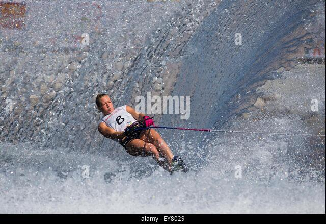 Toronto, Canada. 23rd July, 2015. Whitney McClintock of Canada competes during the women's slalom final match - Stock-Bilder